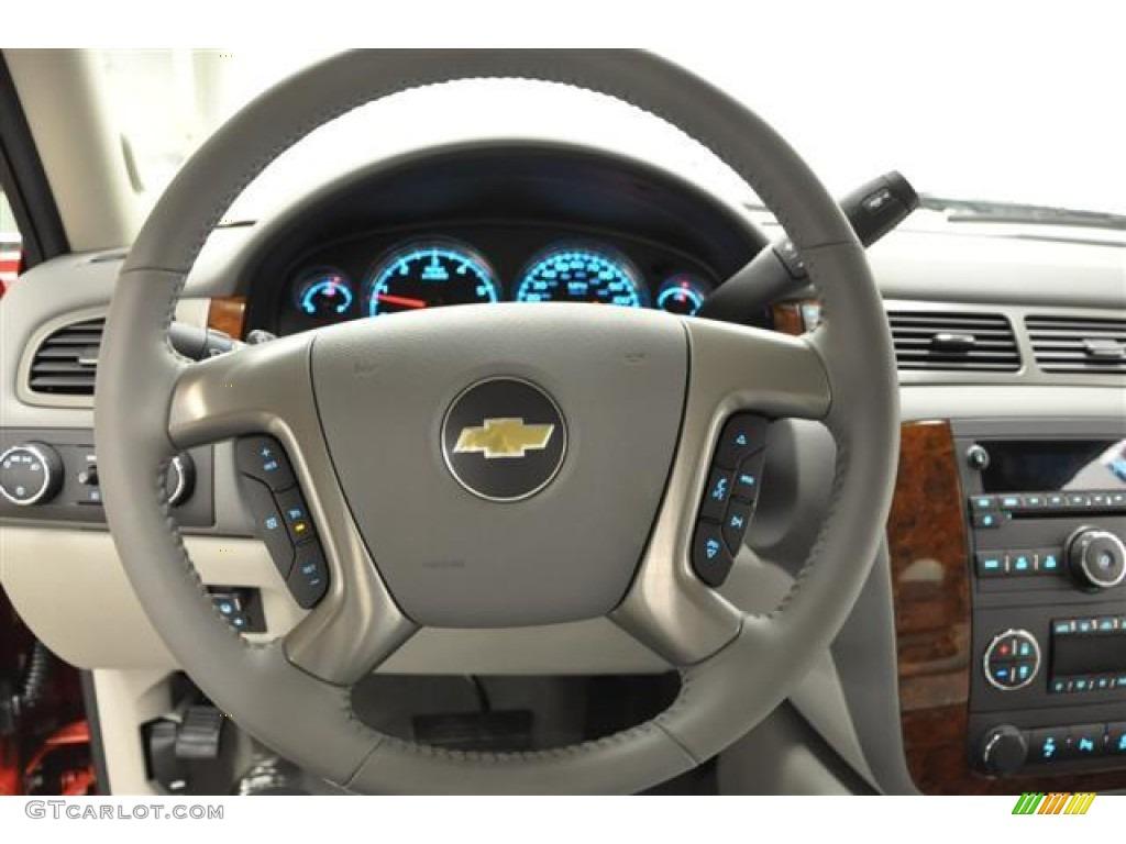 2012 Silverado 1500 LTZ Extended Cab 4x4 - Victory Red / Light Titanium/Dark Titanium photo #14