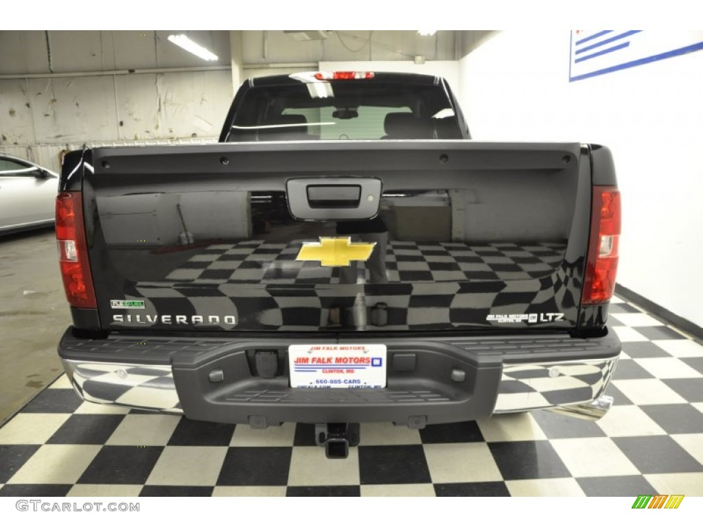 2011 Silverado 1500 LTZ Extended Cab 4x4 - Black / Ebony photo #6