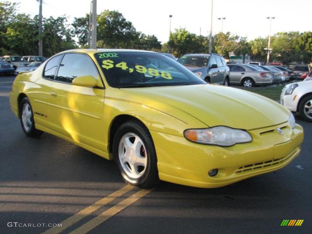monte carlo ss competition yellow color ebony interior 2002 monte