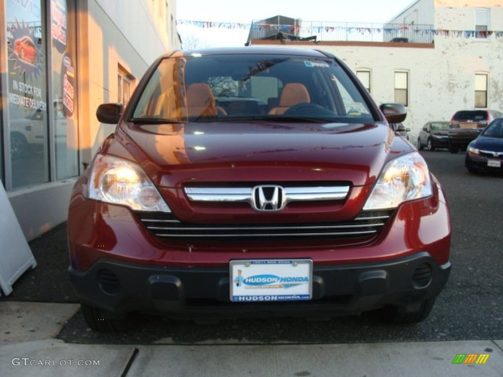 2009 CR-V EX 4WD - Tango Red Pearl / Gray photo #2