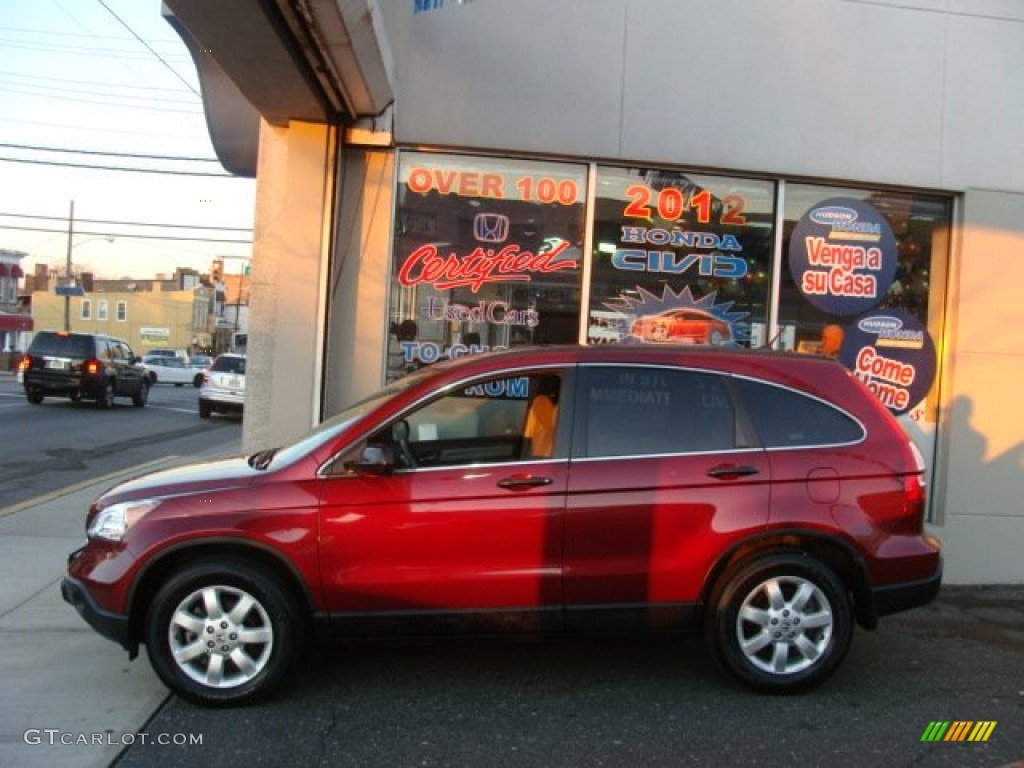 2009 CR-V EX 4WD - Tango Red Pearl / Gray photo #3