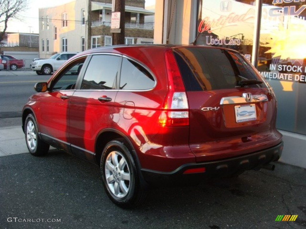 2009 CR-V EX 4WD - Tango Red Pearl / Gray photo #4