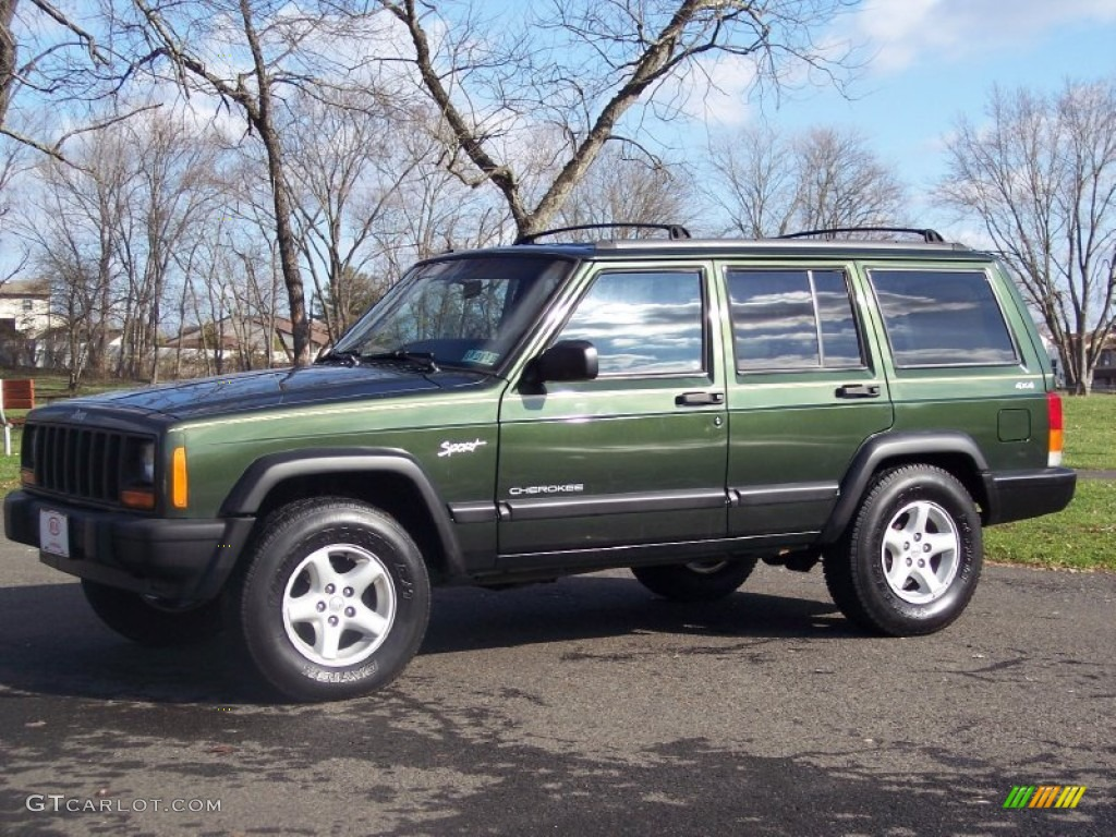 1997 emerald green pearlcoat jeep cherokee sport 4x4 57695952 car color galleries. Black Bedroom Furniture Sets. Home Design Ideas