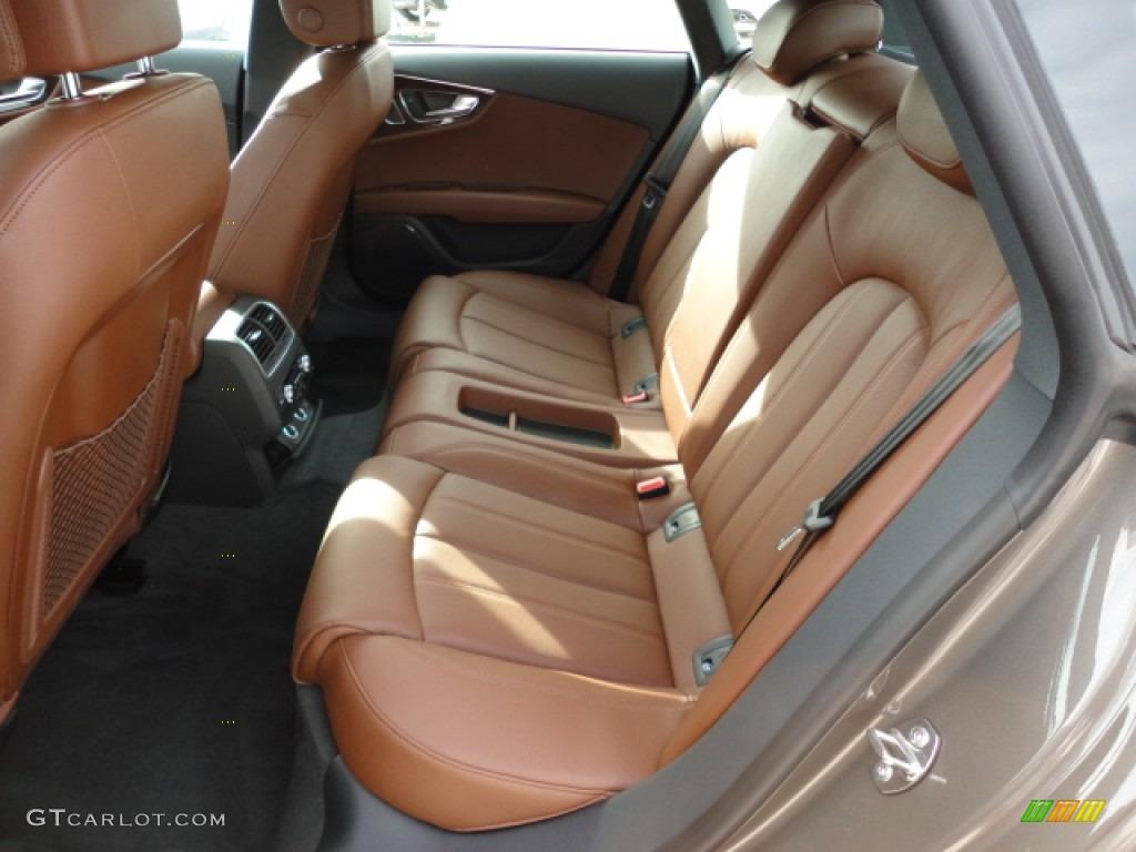 Car interior brown - 2012 A7 3 0t Quattro Prestige Dakota Grey Metallic Nougat Brown Photo 6