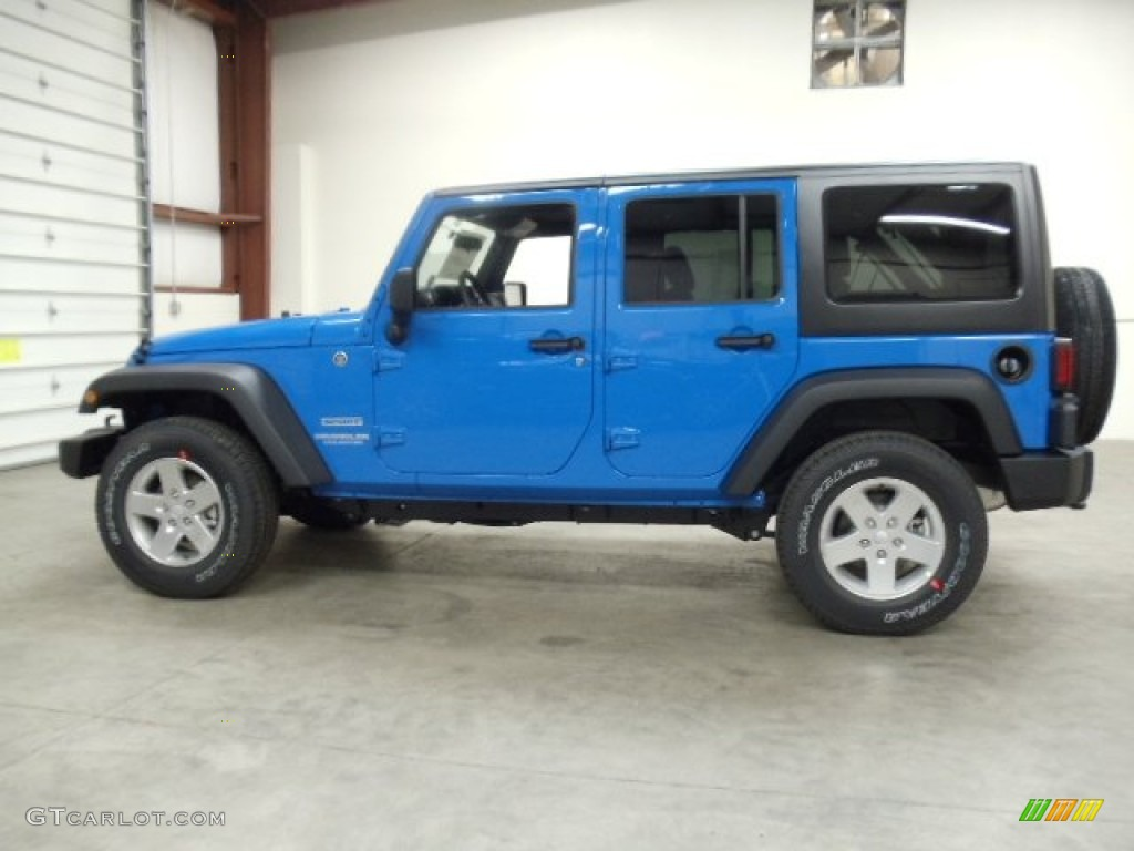 2012 Cosmos Blue Jeep Wrangler Unlimited Sport S 4x4 57696379 Photo 2 Car