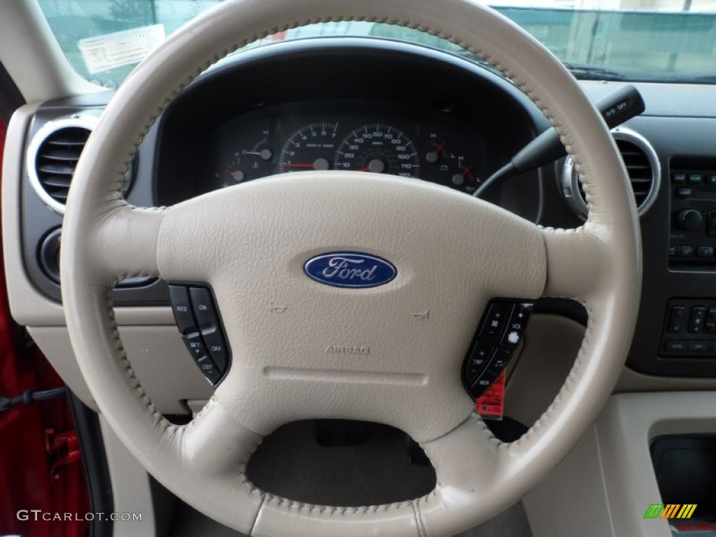 2003 Ford Expedition Ed Bauer Medium Parchment Steering Wheel Photo 57724904