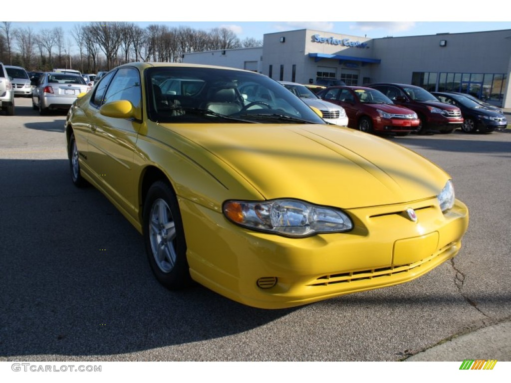 2004 competition yellow chevrolet monte carlo ls 57696324. Black Bedroom Furniture Sets. Home Design Ideas