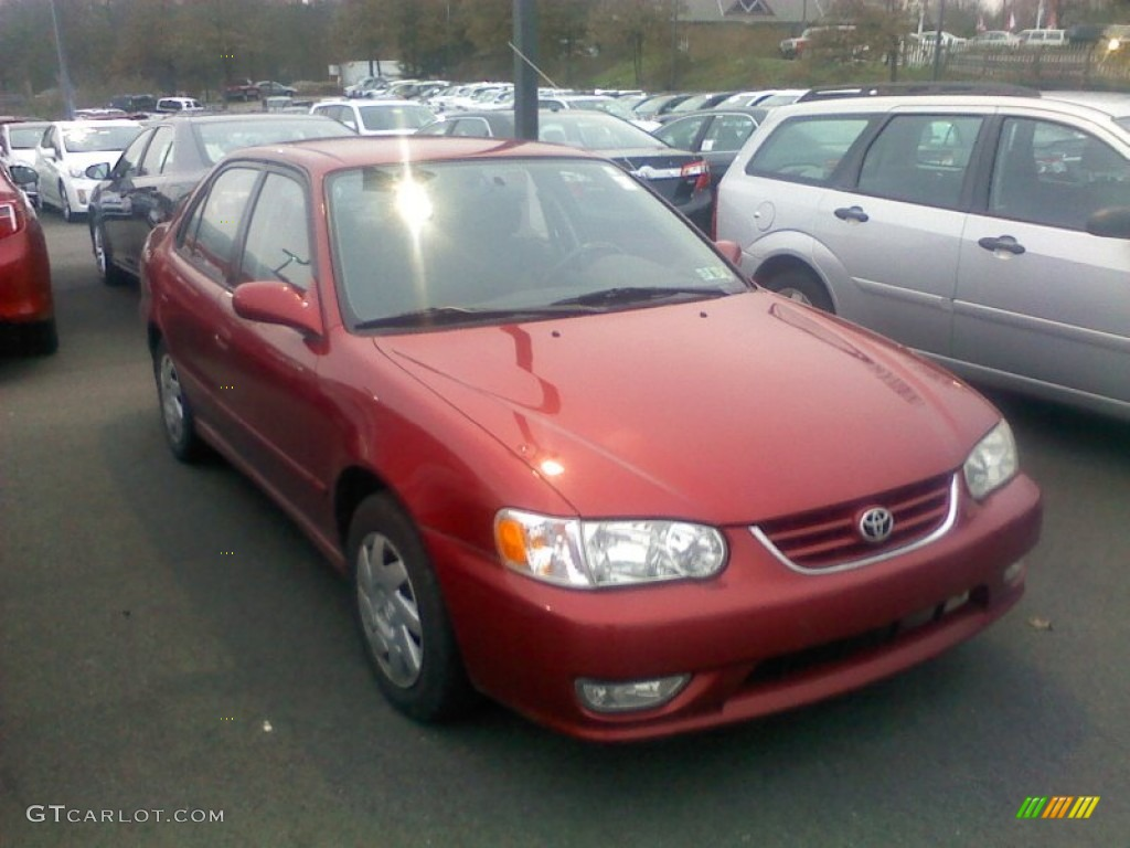 2001 Impulse Red Toyota Corolla S 57695116 Car Color Galleries