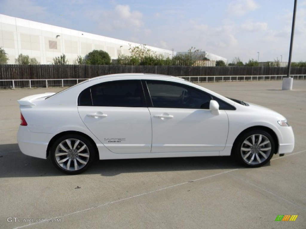 2011 Civic Si Sedan   Taffeta White / Black Photo #3