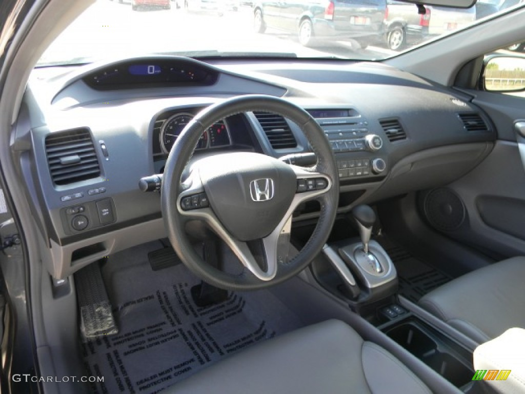 Gray Interior 2009 Honda Civic EX L Coupe Photo #57752114
