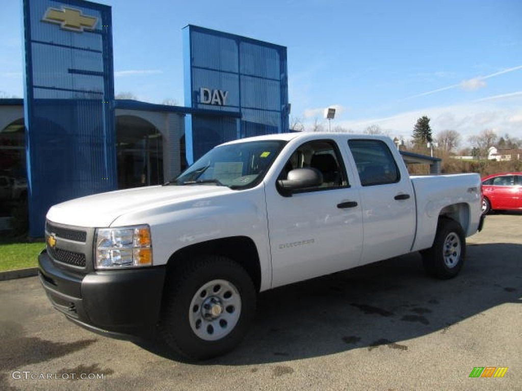 2012 Silverado 1500 Work Truck Crew Cab 4x4 - Summit White / Dark Titanium photo #1