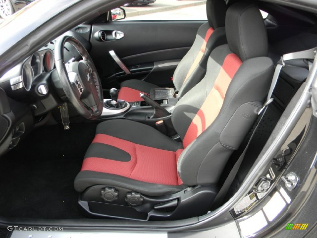 NISMO Black/Red Interior 2008 Nissan 350Z NISMO Coupe Photo #57761363