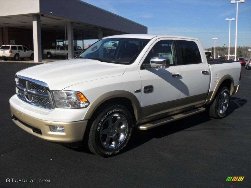 2012 Bright White Dodge Ram 1500 Laramie Longhorn Crew Cab