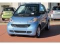 Light Blue Metallic 2012 Smart fortwo pure coupe