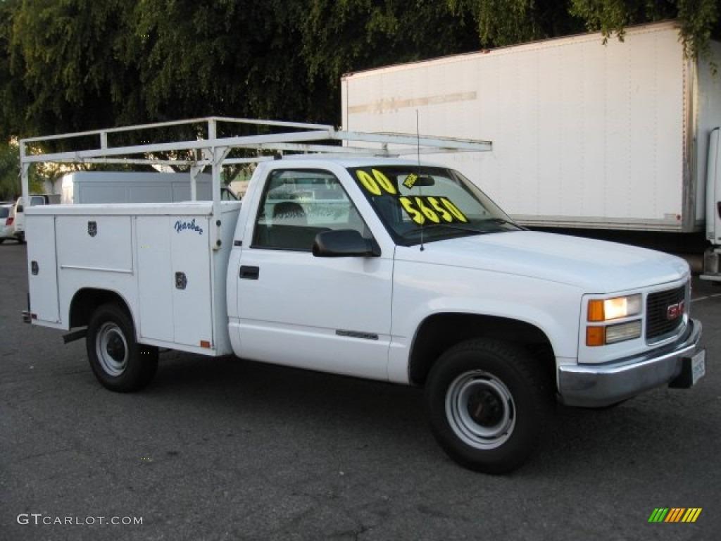 1997 Olympic White GMC Sierra 3500 SL Regular Cab Utility Truck #57695566 : GTCarLot.com - Car ...