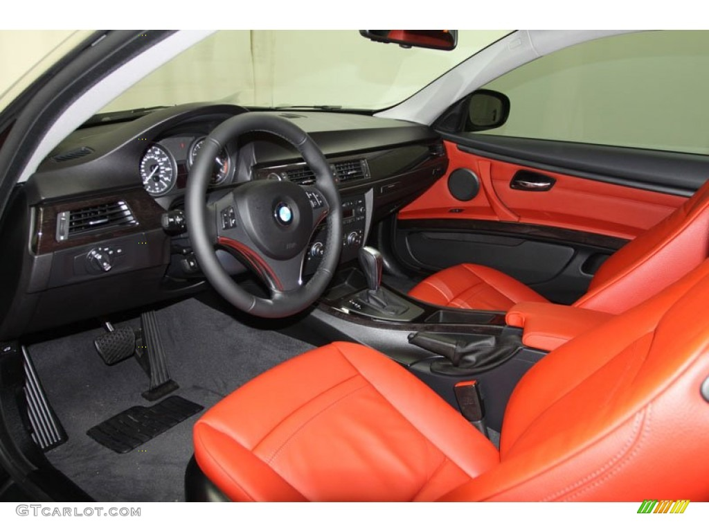 Coral Red Black Interior 2012 Bmw 3 Series 328i Coupe Photo 57778044