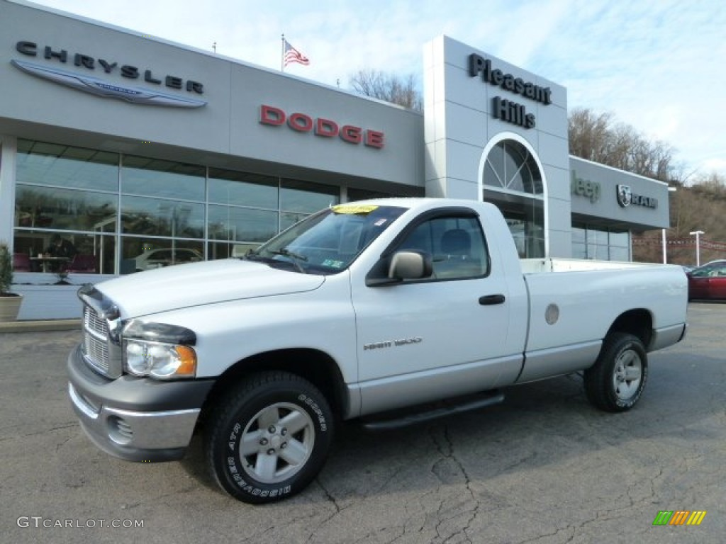 2002 Ram 1500 ST Regular Cab 4x4 - Bright White / Dark Slate Gray photo #1