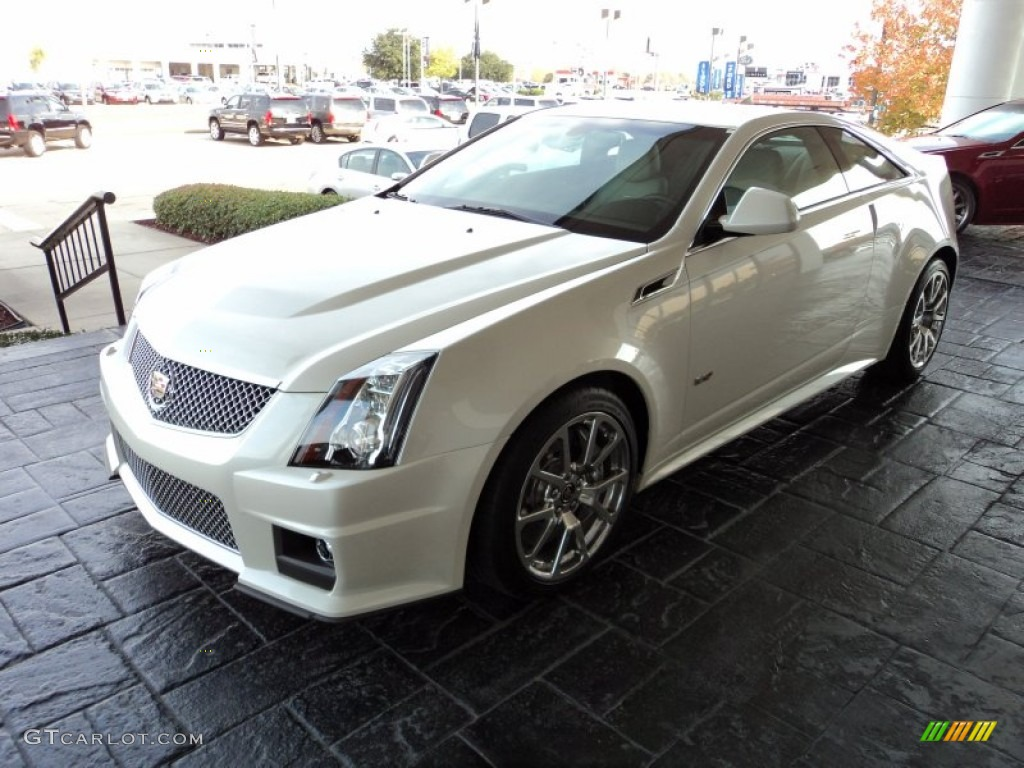 2012 White Diamond Tricoat Cadillac Cts V Coupe 57696017