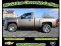 2012 Mocha Steel Metallic Chevrolet Silverado 1500 Work Truck Regular Cab 4x4  photo #1