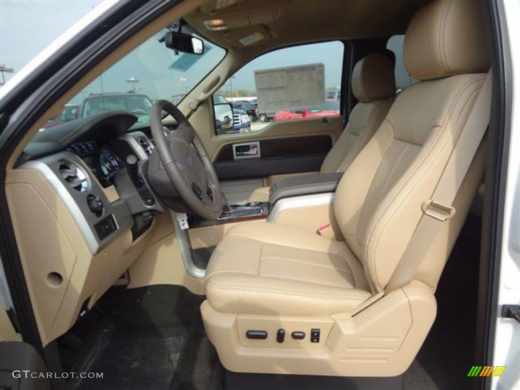 pale adobe interior  ford  lariat supercrew photo  gtcarlotcom