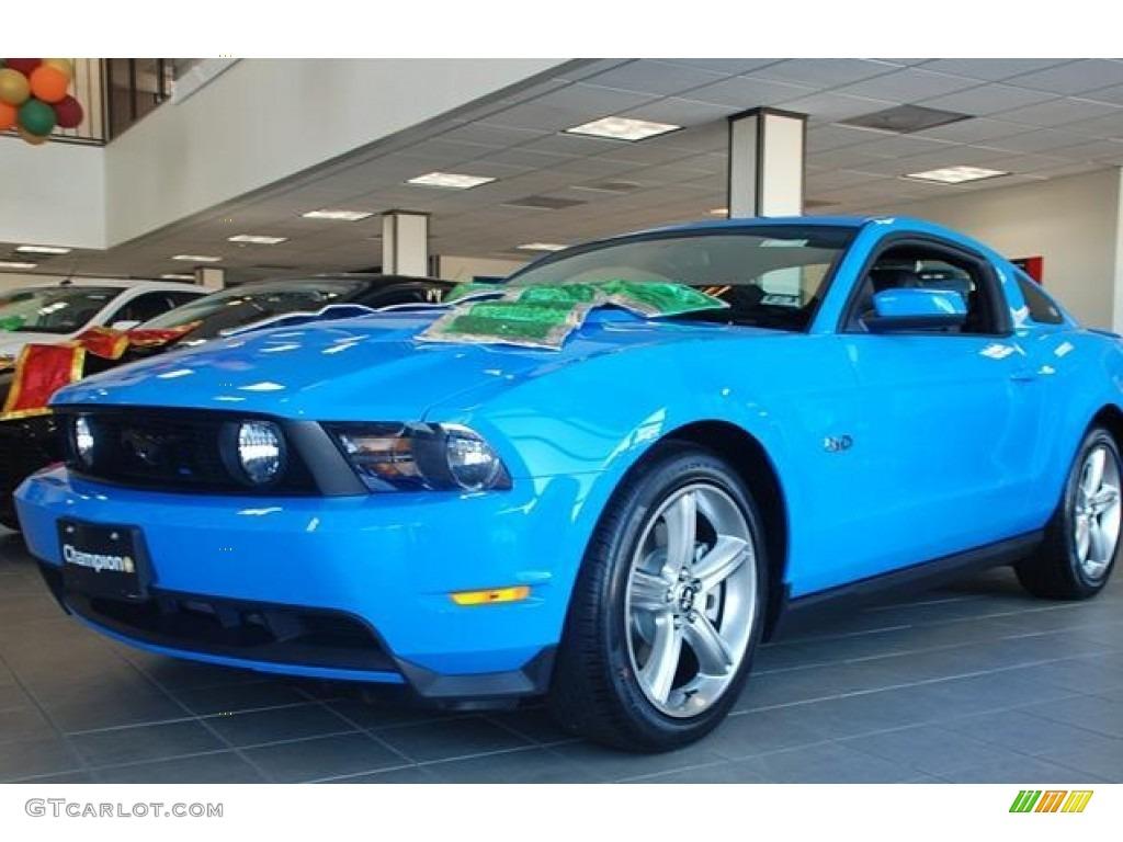 2012 grabber blue ford mustang gt premium coupe 57788048 car color galleries. Black Bedroom Furniture Sets. Home Design Ideas