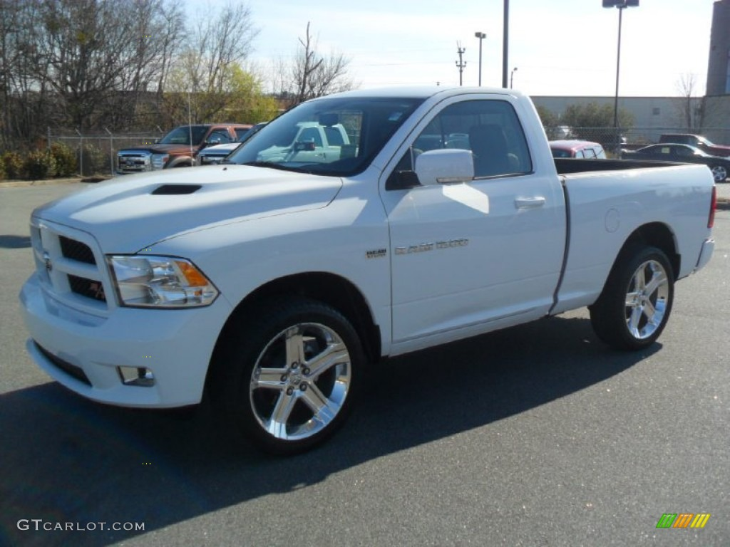 2012 dodge ram 1500 sport r t regular cab bright white color dark. Black Bedroom Furniture Sets. Home Design Ideas