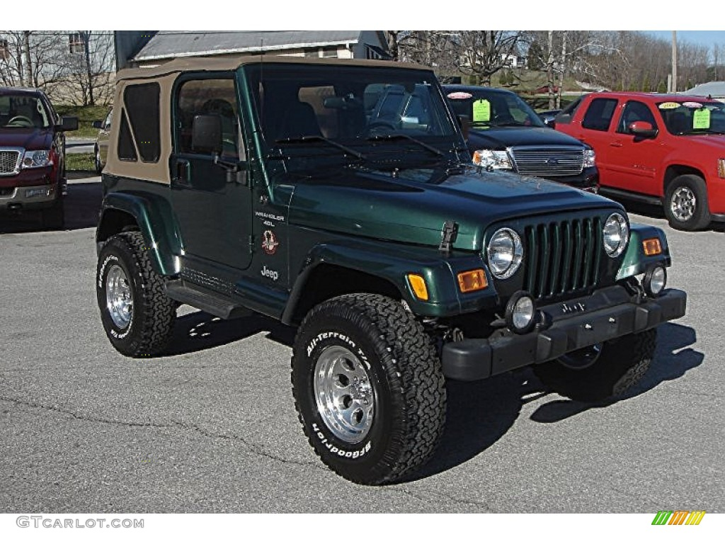 Dark green car paint colors - 2001 Wrangler Sahara 4x4 Forest Green Camel Dark Green Photo 1
