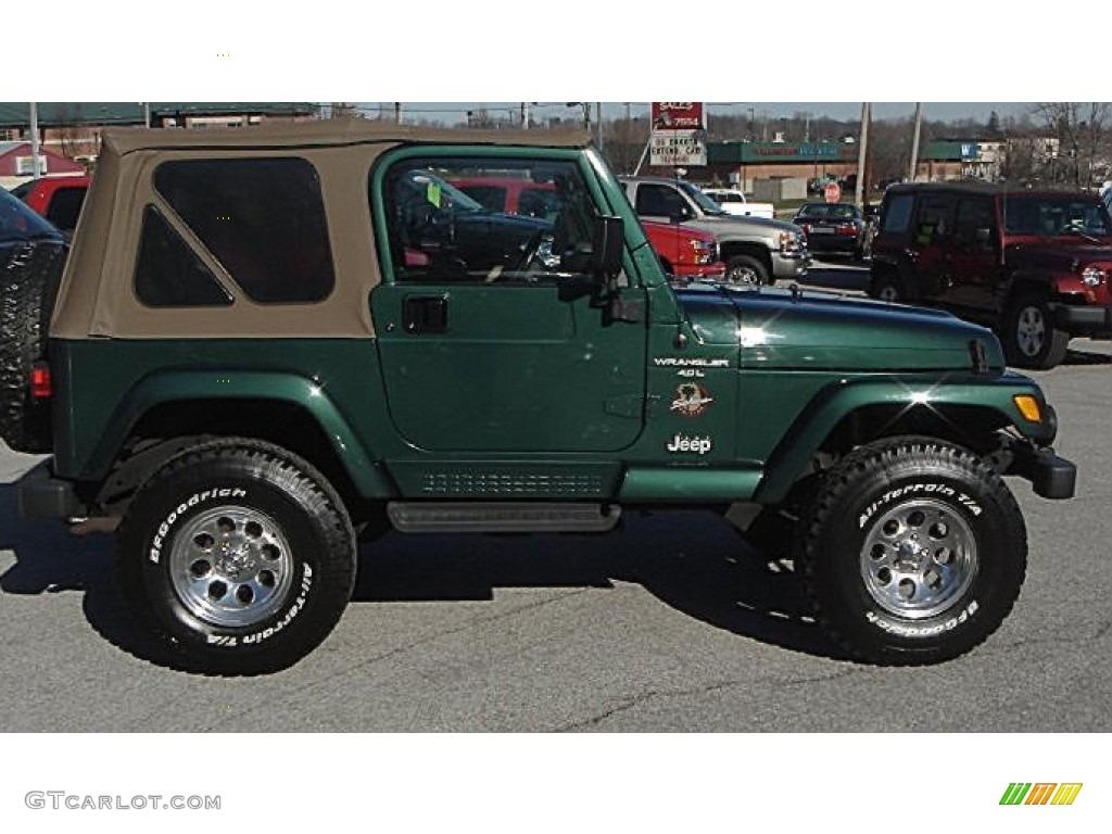 2001 Forest Green Jeep Wrangler Sahara 4x4 57788271 Photo