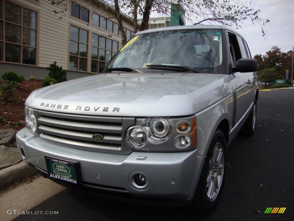 2007 Range Rover HSE - Zermatt Silver Metallic / Charcoal photo #1