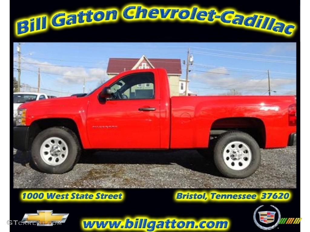 2012 Silverado 1500 Work Truck Regular Cab 4x4 - Victory Red / Dark Titanium photo #1