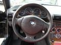 2001 BMW Z3 Tanin Red Interior Steering Wheel Photo