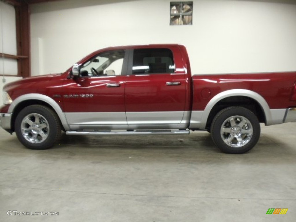 2012 deep cherry red crystal pearl dodge ram 1500 laramie longhorn crew cab 4x4 57823530 photo. Black Bedroom Furniture Sets. Home Design Ideas