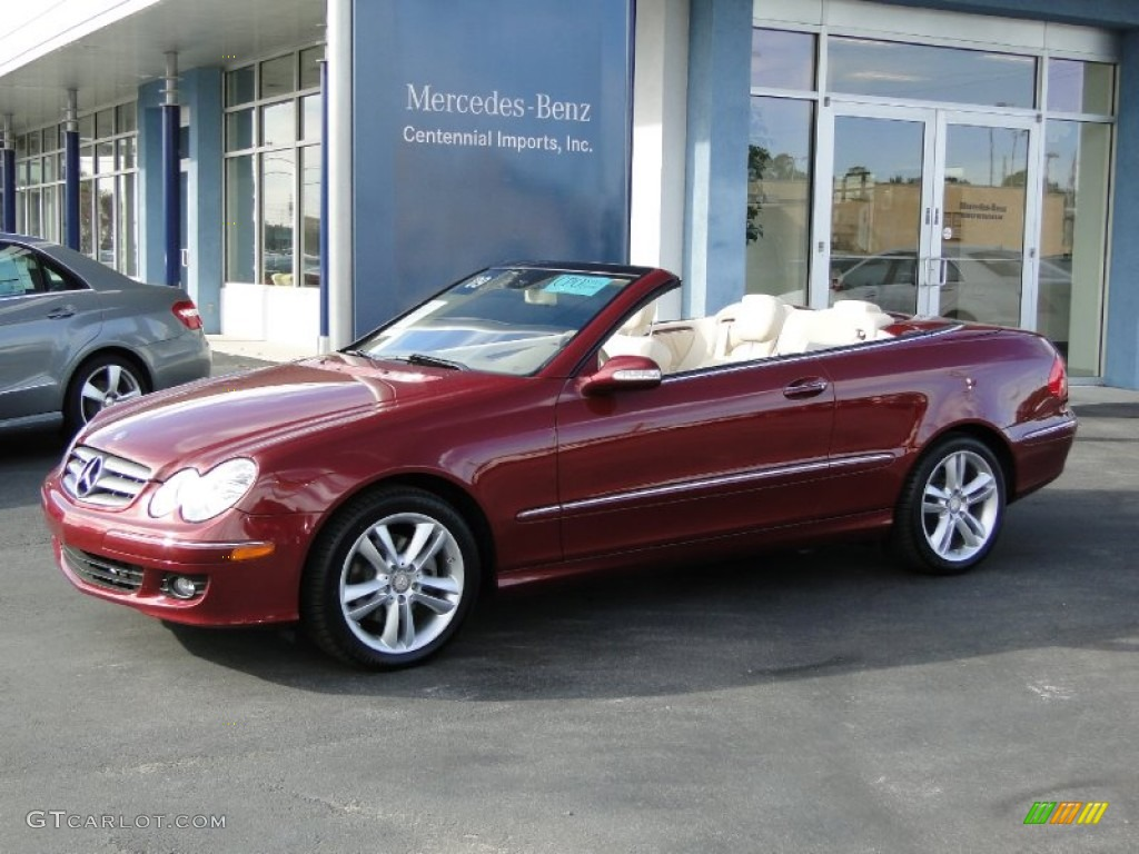 2009 storm red metallic mercedes benz clk 350 cabriolet for Mercedes benz 350 clk convertible