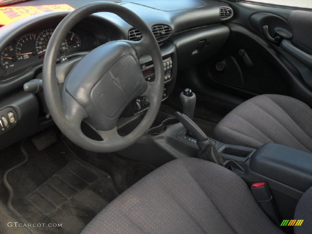 graphite interior 2001 pontiac sunfire se coupe photo #57855095