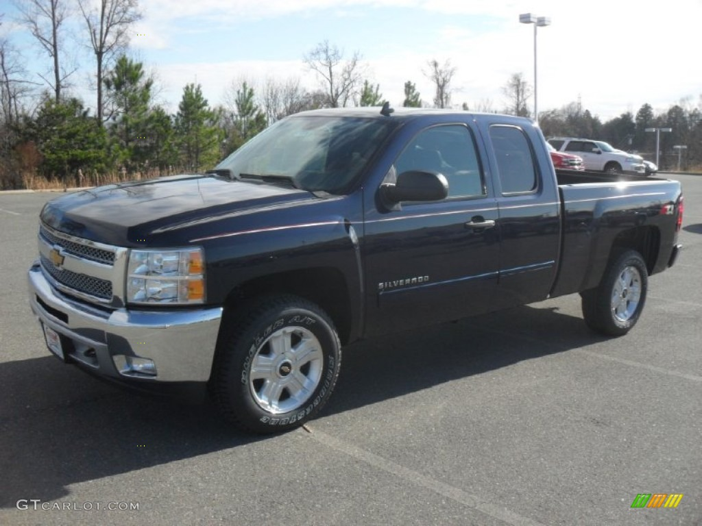 2012 Silverado 1500 LT Extended Cab 4x4 - Imperial Blue Metallic / Ebony photo #1