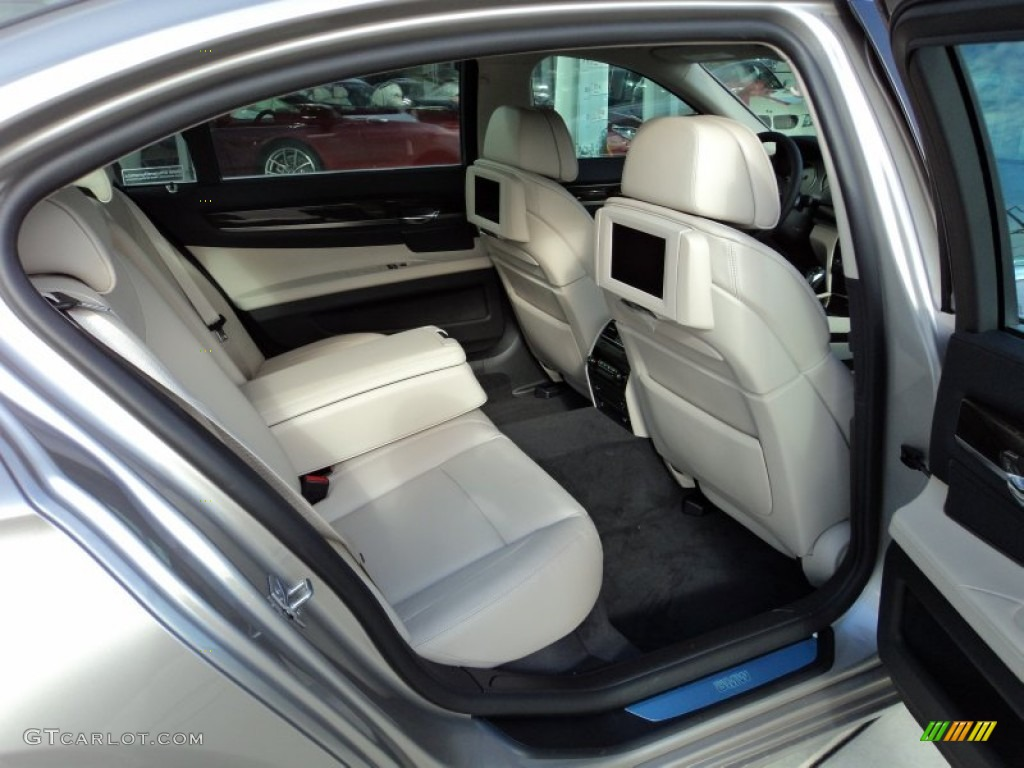 Oyster Black Interior 2012 Bmw 7 Series 750li Sedan Photo