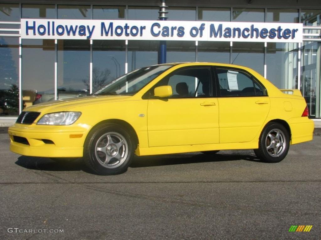 2002 lightning yellow mitsubishi lancer oz rally 57823160 car color galleries. Black Bedroom Furniture Sets. Home Design Ideas