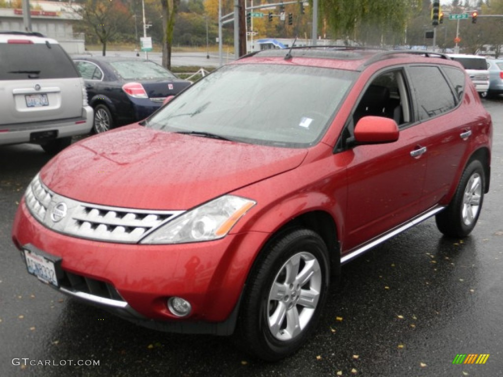 2007 Murano SL AWD - Sunset Red Pearl Metallic / Charcoal photo #1