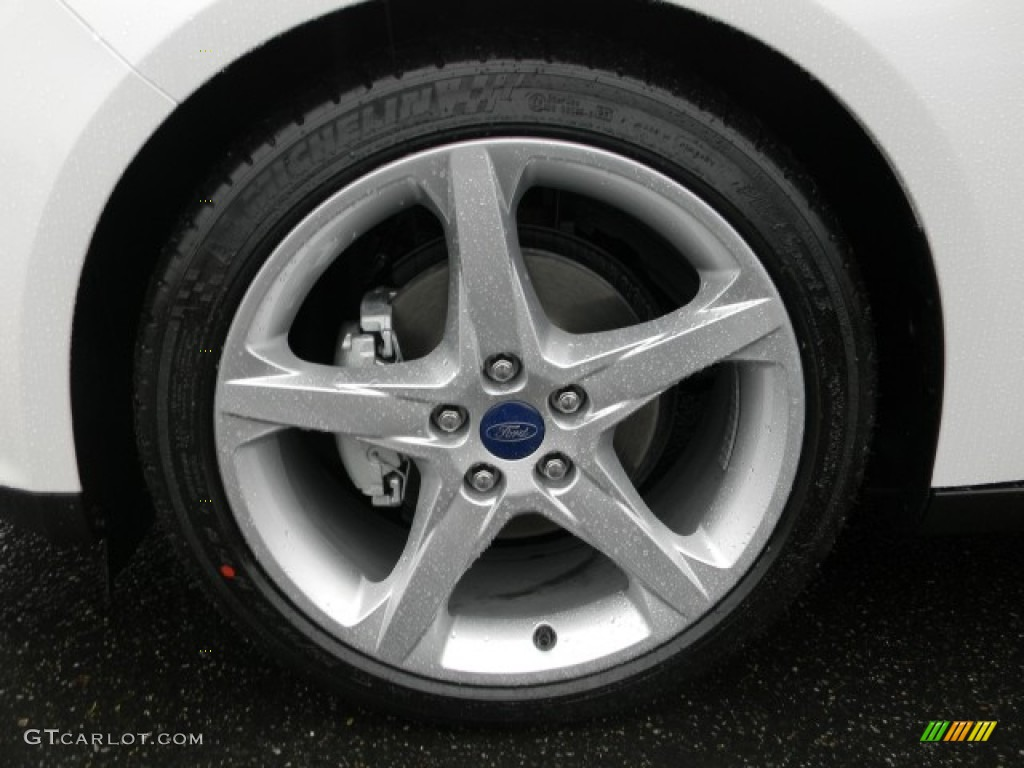 2012 Focus Titanium 5-Door - White Platinum Tricoat Metallic / Charcoal Black Leather photo #3