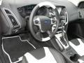 2012 White Platinum Tricoat Metallic Ford Focus Titanium 5-Door  photo #6