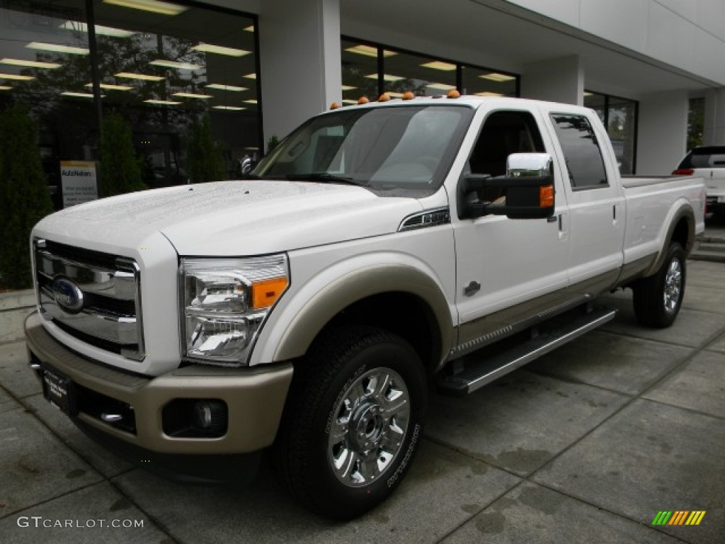 2012 white platinum metallic tri coat ford f350 super duty king ranch crew cab 4x4 57873684. Black Bedroom Furniture Sets. Home Design Ideas