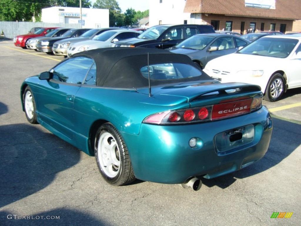 1997 Eclipse Spyder Gs Monarch Green Pearl Metallic Beige Photo 2