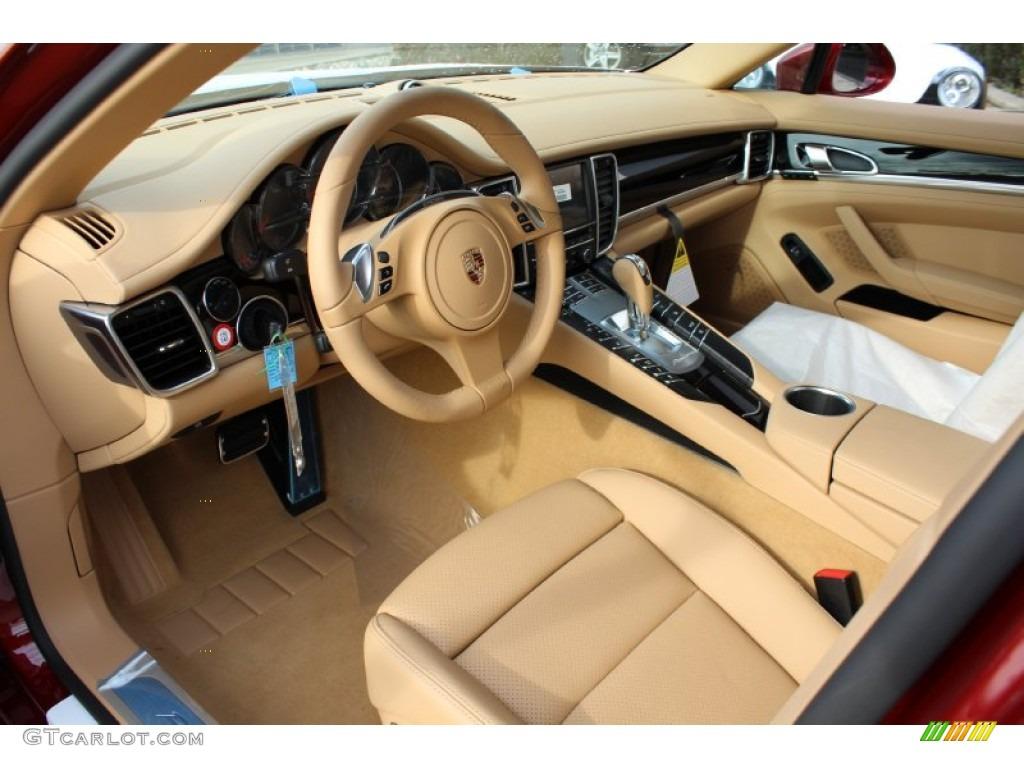 Luxor Beige Interior 2012 Porsche Panamera 4 Photo 57890800