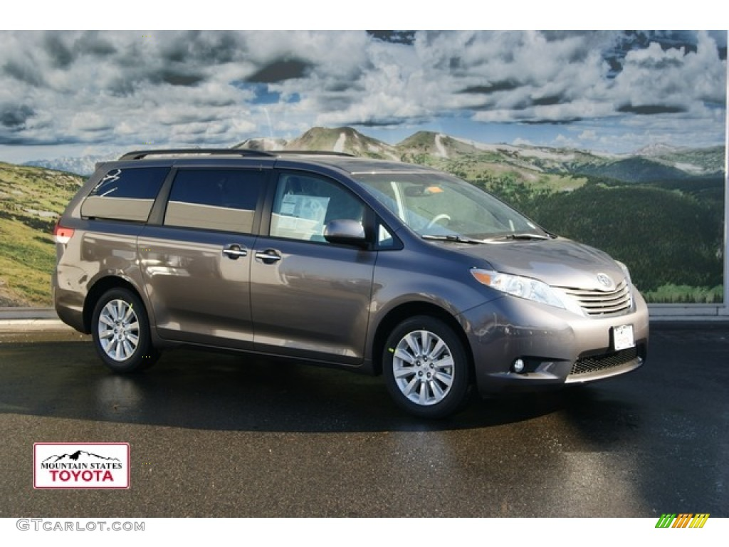 2012 Sienna XLE AWD - Predawn Gray Mica / Light Gray photo #1