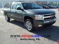 2011 Steel Green Metallic Chevrolet Silverado 1500 LT Extended Cab 4x4  photo #1