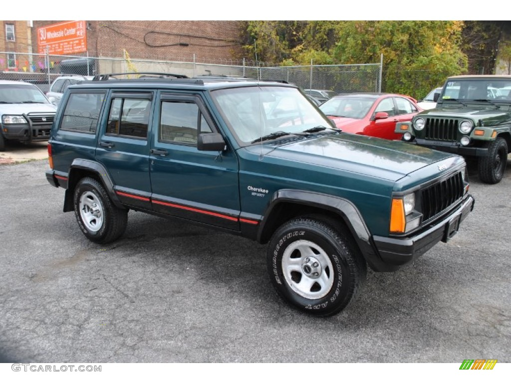 1996 bright jade green jeep cherokee sport 4wd 57877190. Black Bedroom Furniture Sets. Home Design Ideas