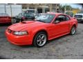 2001 Performance Red Ford Mustang GT Coupe  photo #4