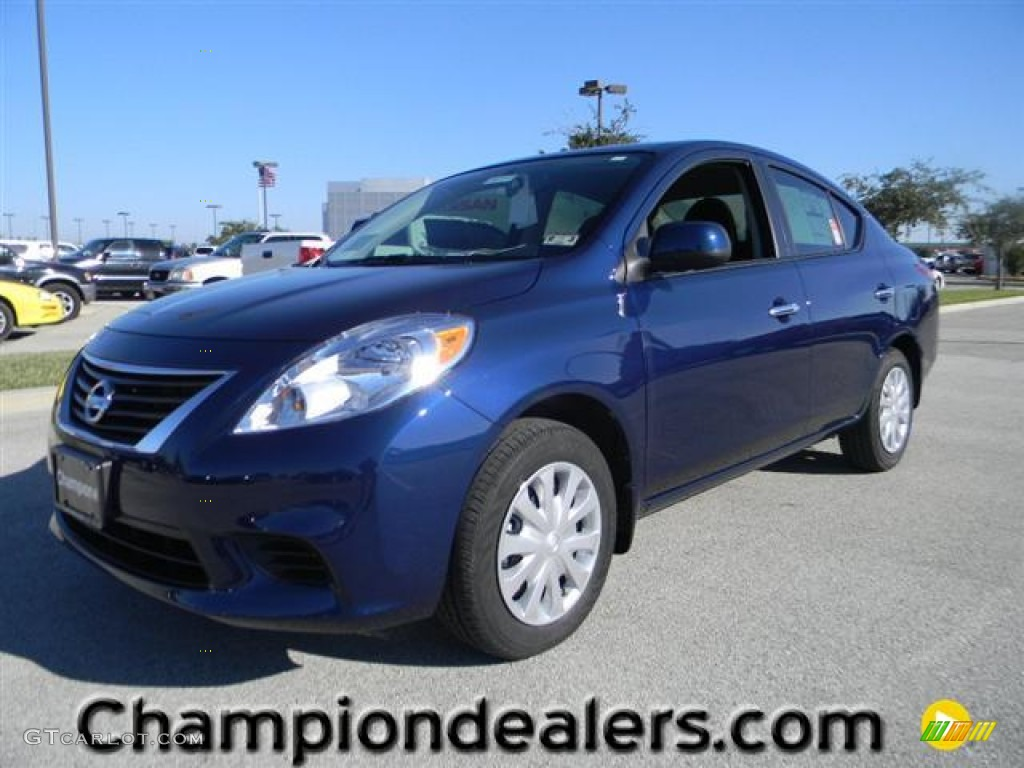2012 blue onyx metallic nissan versa 1 6 sv sedan 57873316 car color galleries. Black Bedroom Furniture Sets. Home Design Ideas
