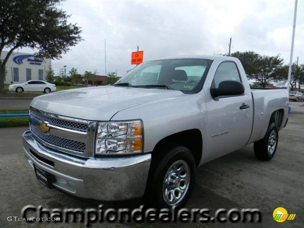 2012 Silverado 1500 LS Regular Cab - Silver Ice Metallic / Dark Titanium photo #1