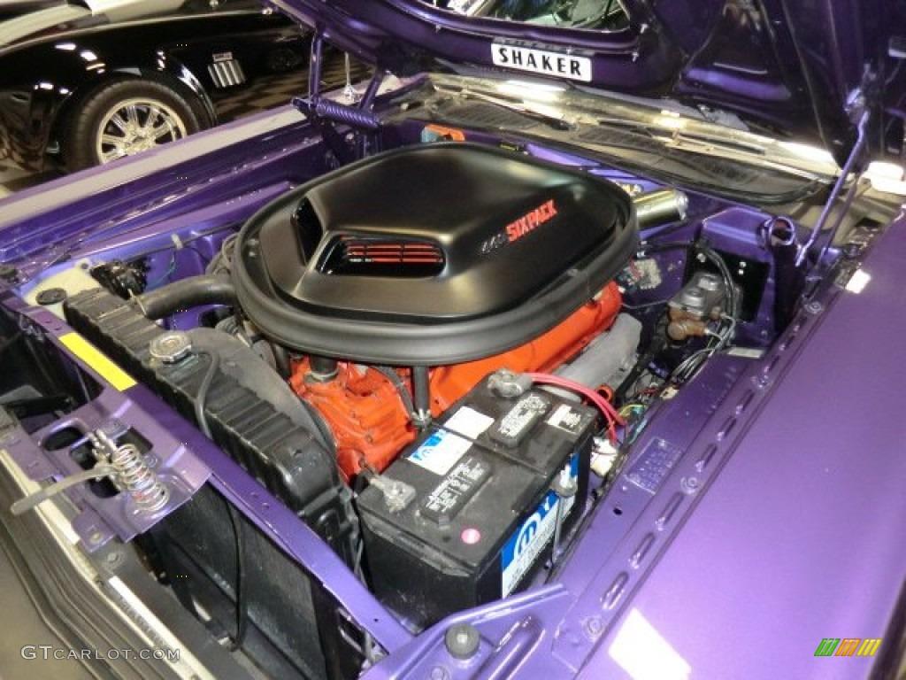 1970 Dodge Challenger R/T Coupe 440 Sixpack OHV 16-Valve V8 Engine